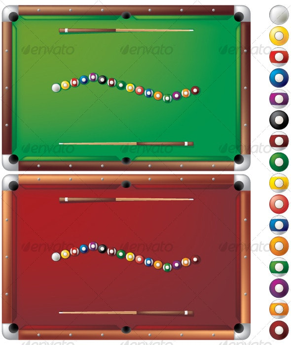 Pool tables - Objects Vectors