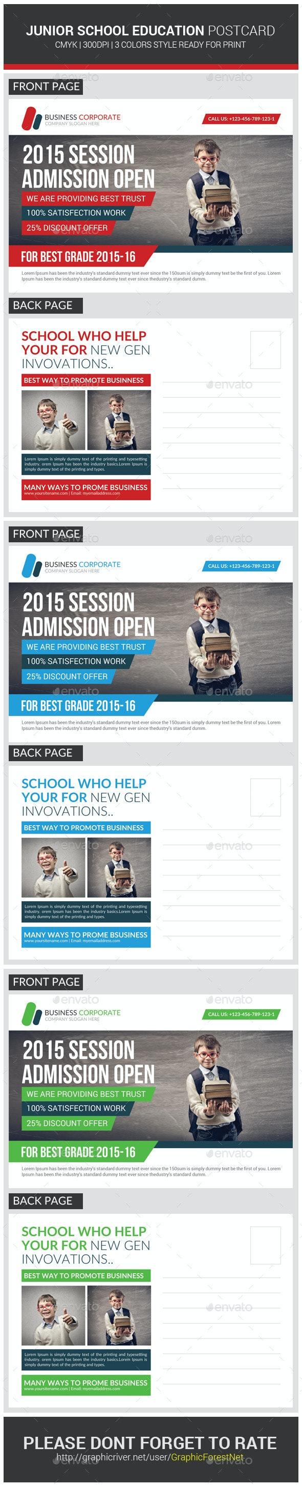 Junior School Promotion Postcard Template - Cards & Invites Print Templates