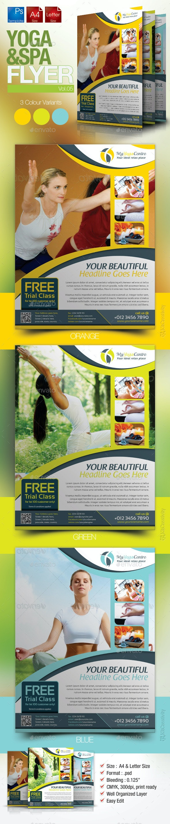 Simple Yoga Flyer Vol.5 - Sports Events