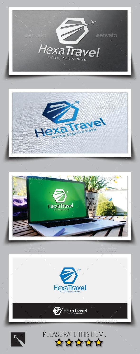 Hexagon Travel Logo Template - Objects Logo Templates