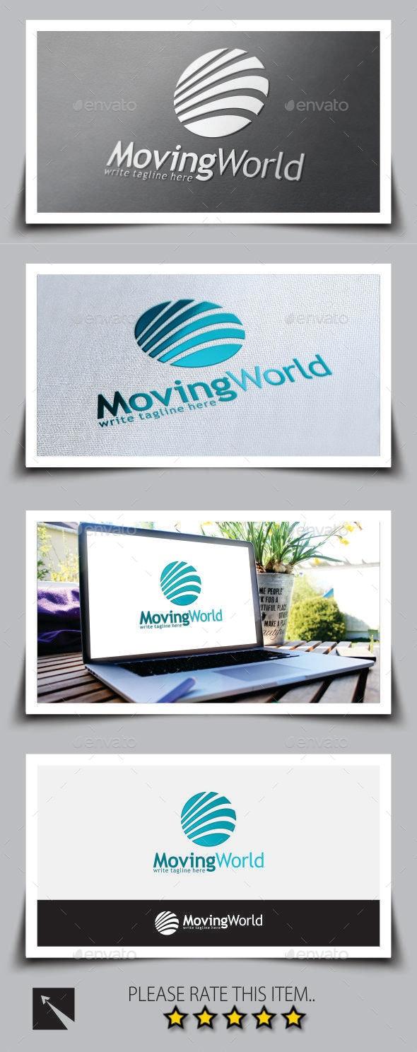 Moving World Marketing Logo Template - Abstract Logo Templates