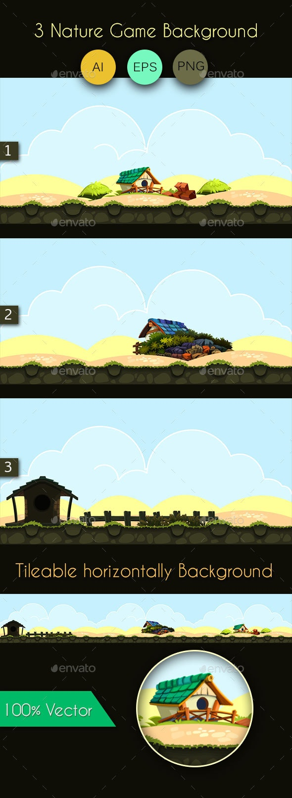 3 Nature Game Background - Backgrounds Game Assets