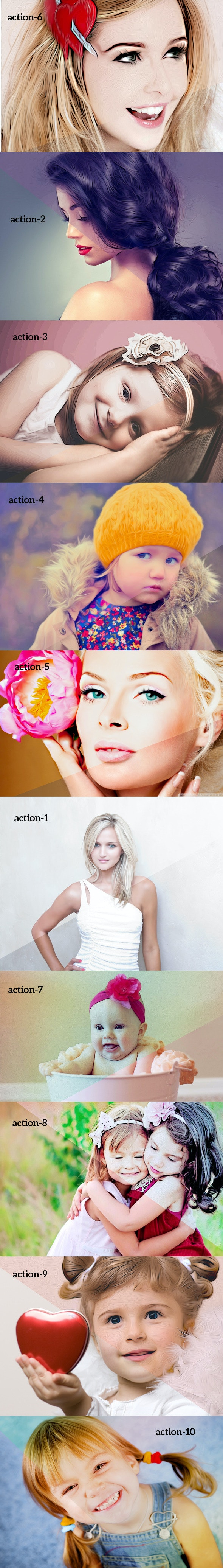 Oil Art Action - Photo Effects Actions