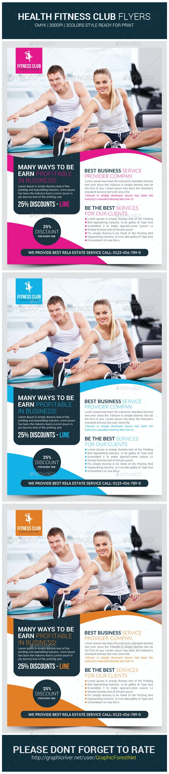 Fitness Health Flyers Template - Corporate Flyers