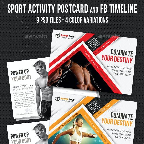 Sport Activity Postcard and FB Timeline V04