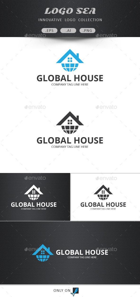 Global Home Vector Logo - Symbols Logo Templates