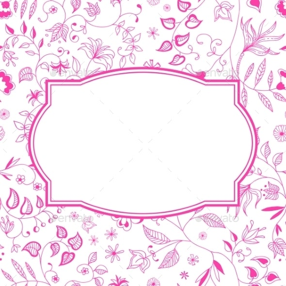 Floral Pattern Pink Background - Flowers & Plants Nature