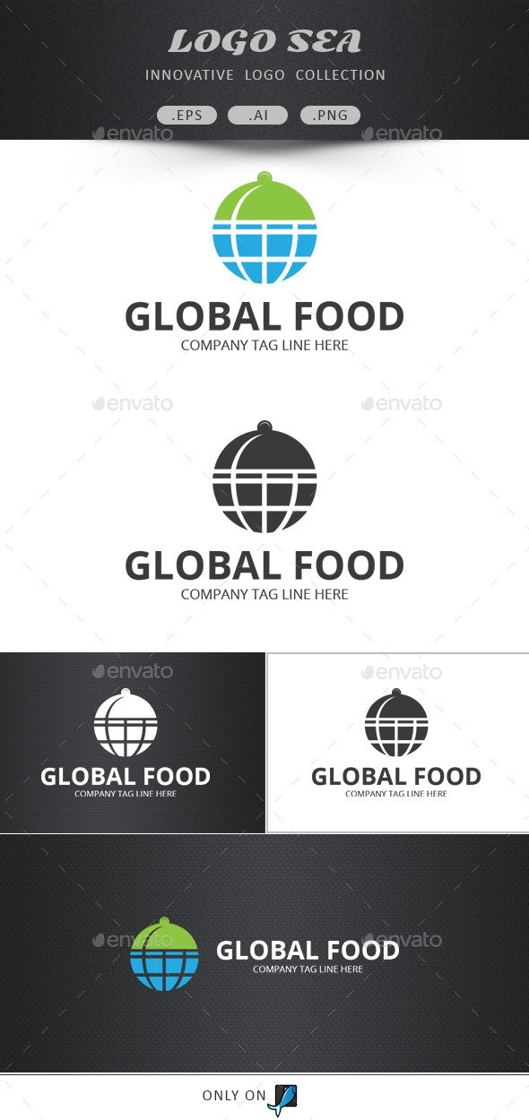 Global Food Vector Logo  - Food Logo Templates