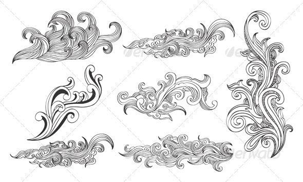 Swirls design elements 03 - Flourishes / Swirls Decorative