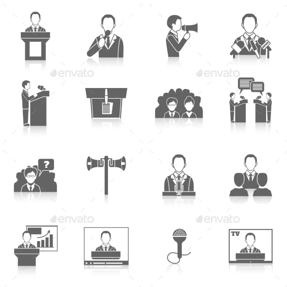 Public Speaking Icons - Business Icons