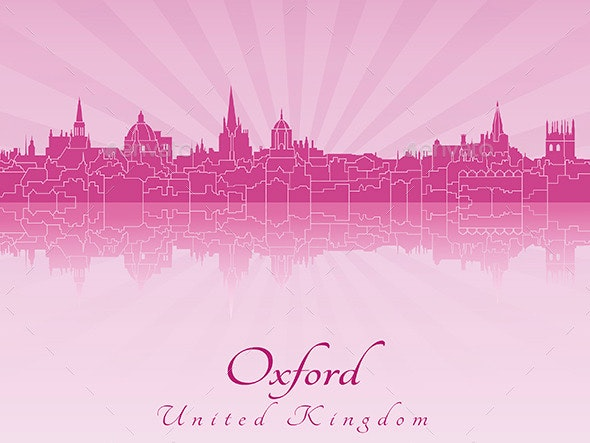 Oxford Skyline - Buildings Objects