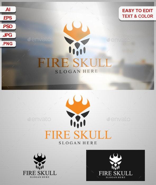 Fire Skull - Symbols Logo Templates