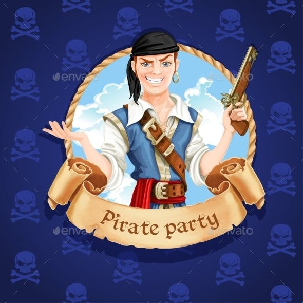 Pirate Banner for Pirate Party