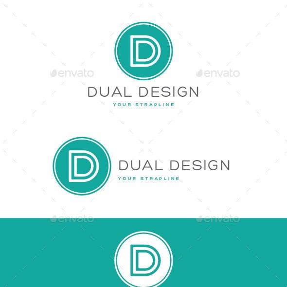 Dual Design Letter D Logo