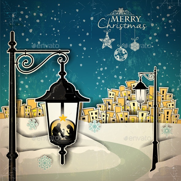 Nativity in to a Lamppost - Christmas Seasons/Holidays