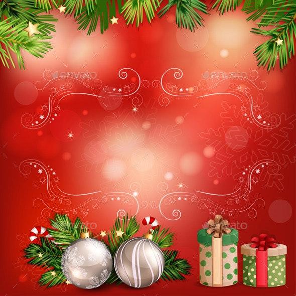 Christmas Illustration with Christmas Bells  - Christmas Seasons/Holidays