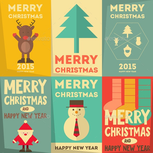 Christmas Posters Set - Christmas Seasons/Holidays