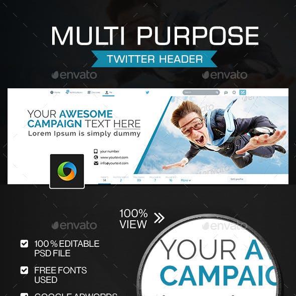 Multi Purpose Twitter Header