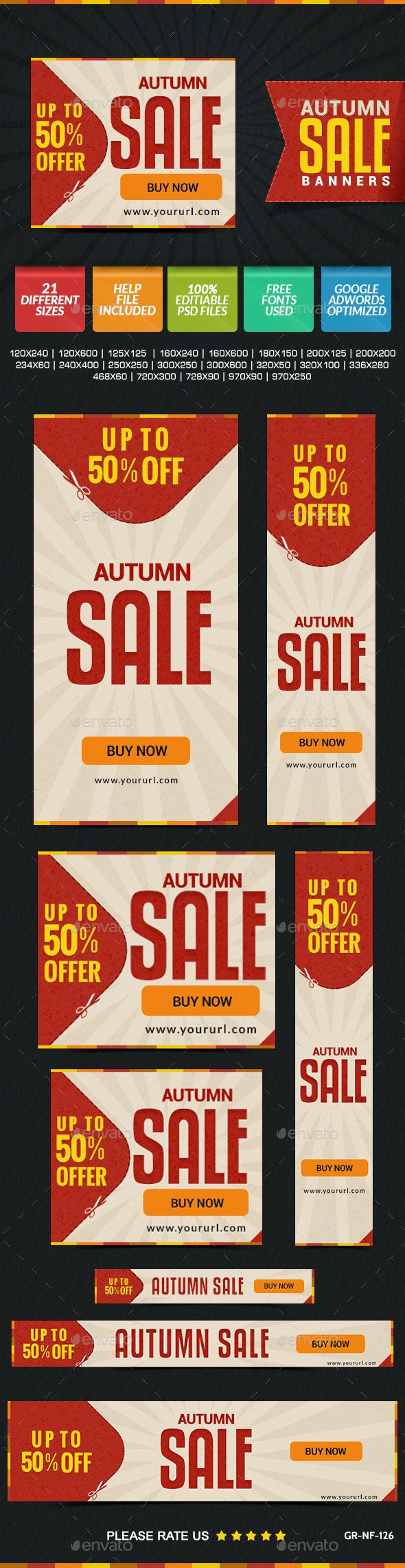 Autumn Sale Banners - Banners & Ads Web Elements