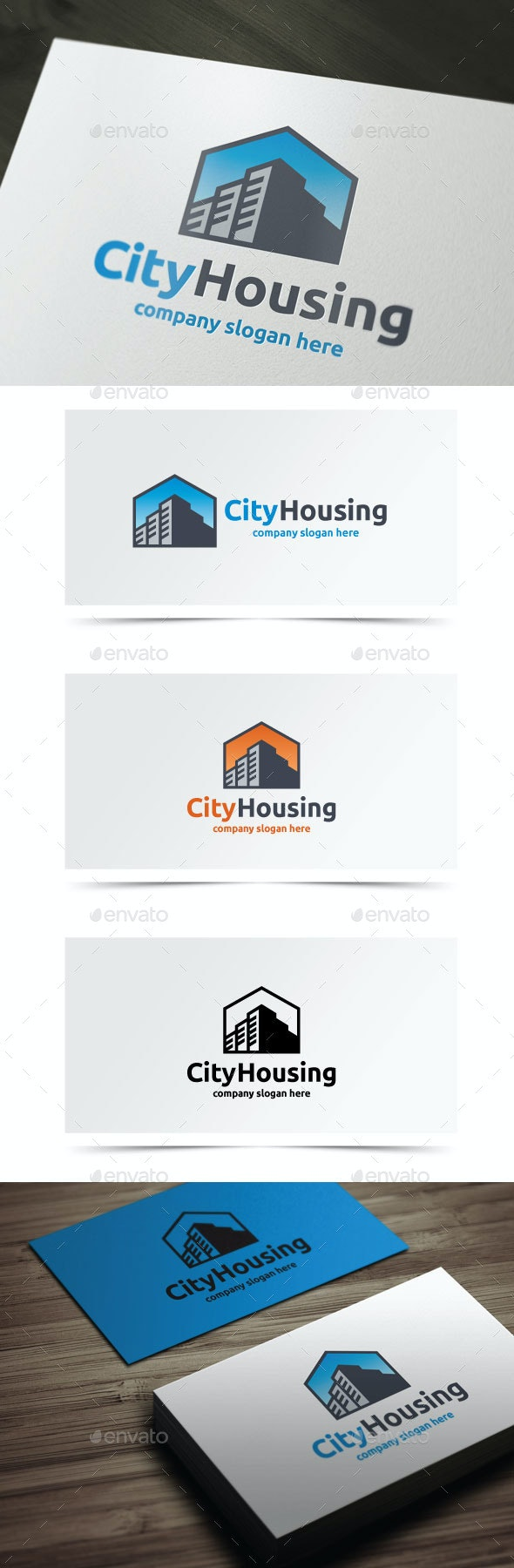 City Housing - Buildings Logo Templates