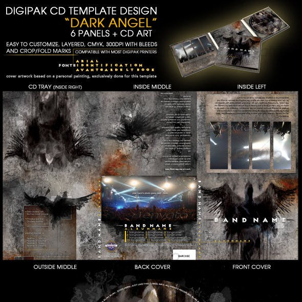 Layered professional 6 panel CD template design