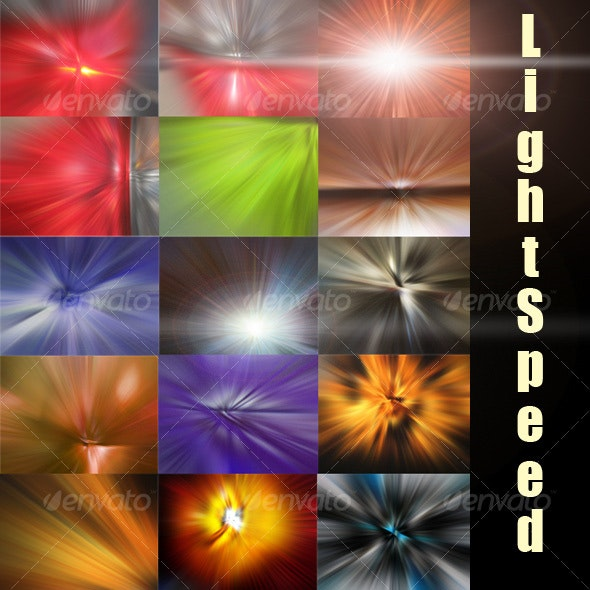 Light Speed Burst - Abstract Backgrounds