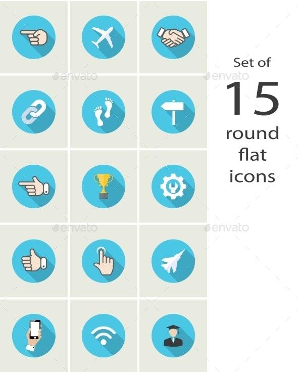 Round Flat Icons - Web Technology