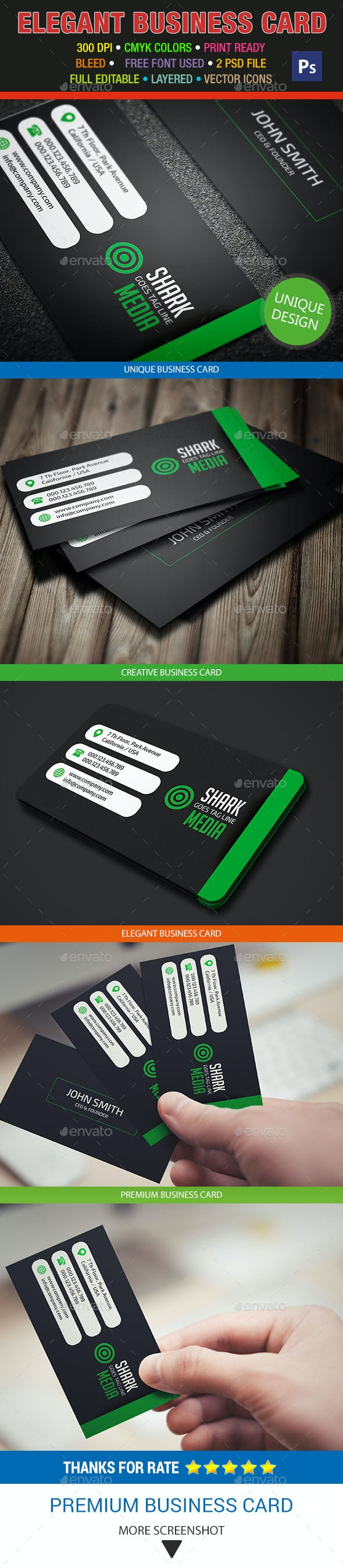 Elegant Business Card 326 - Corporate Business Cards