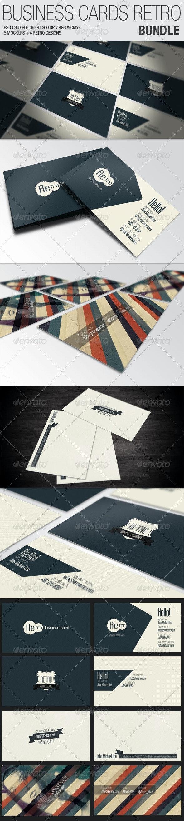 Business Cards Retro - Bundle - Business Cards Print