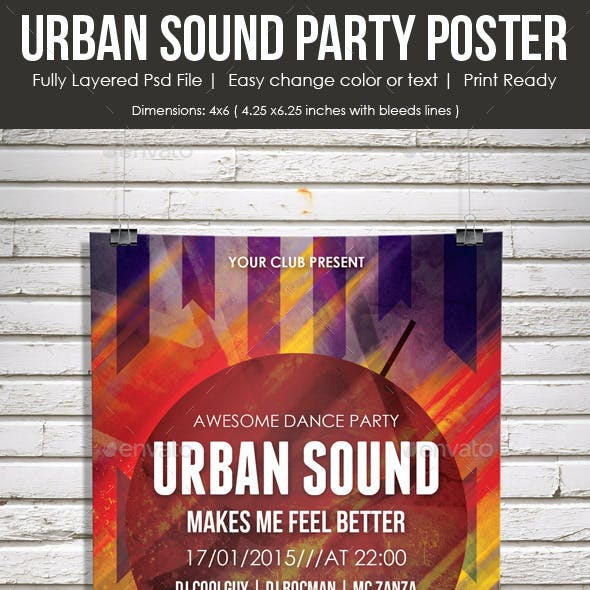 Urban Sound Party Poster