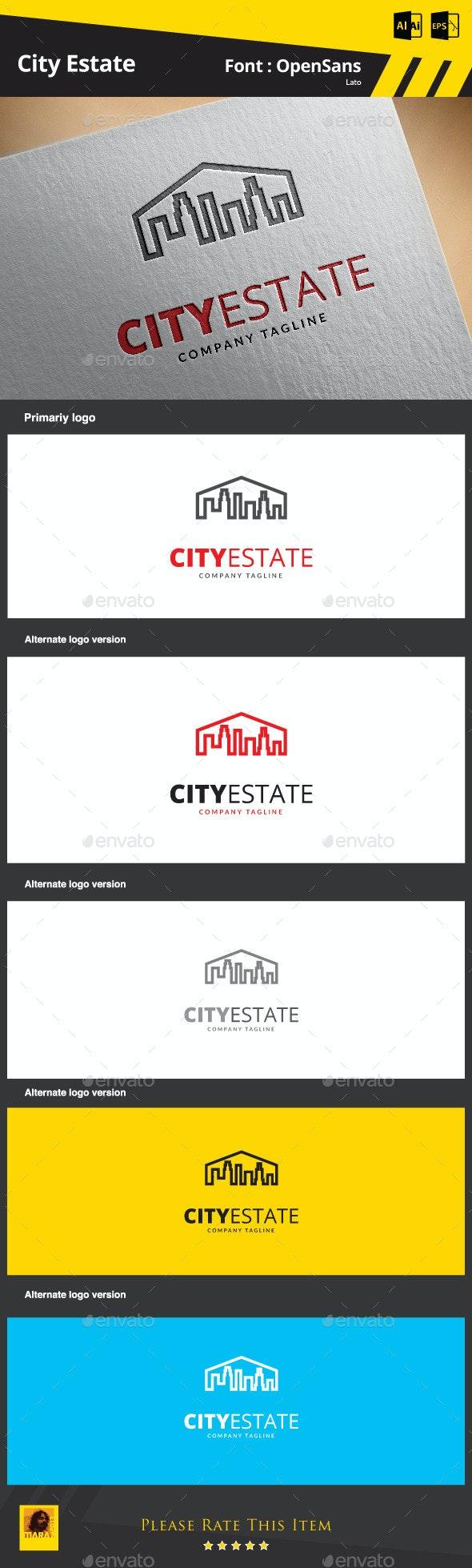 City Estate - Buildings Logo Templates