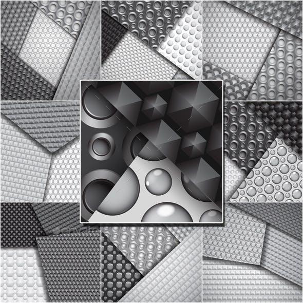 Backgrounds of Seamless Carbon Fiber Patterns
