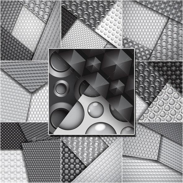 Backgrounds of Seamless Carbon Fiber Patterns - Backgrounds Decorative