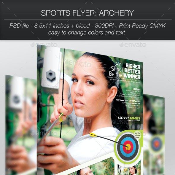 Sports Flyer: Archery