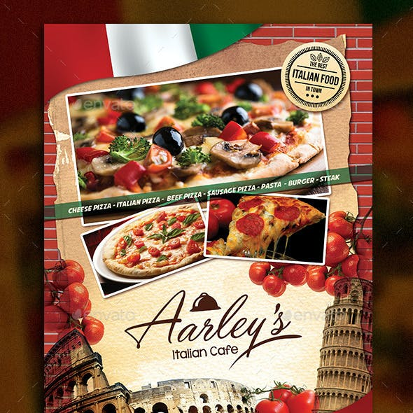Italian Food Menu Flyer