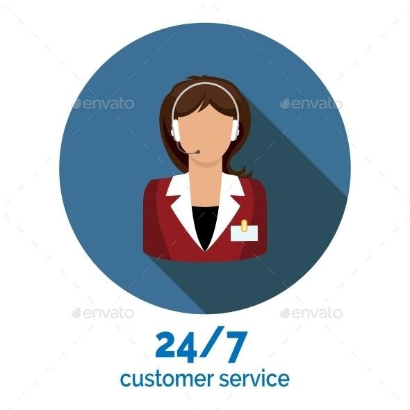 customer service flat icon - Miscellaneous Vectors