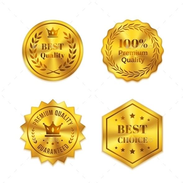 Golden badges - Miscellaneous Vectors