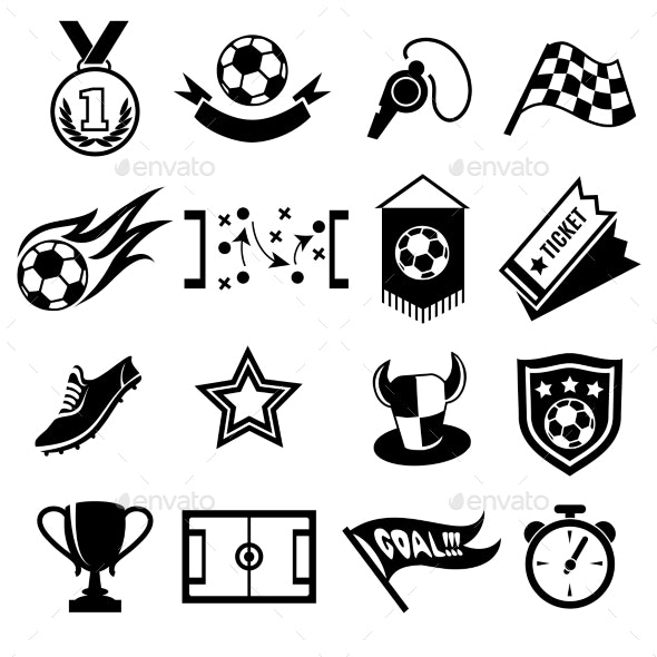 Soccer Icons - Sports/Activity Conceptual