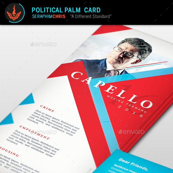 Political Palm Card Template 6