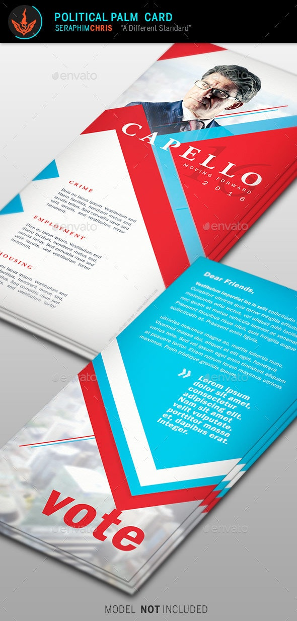 Political Palm Card Template 6 - Corporate Flyers