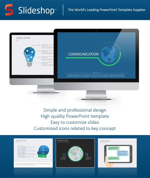Communication Flat - Creative PowerPoint Templates
