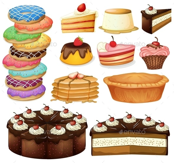 Desserts - Food Objects