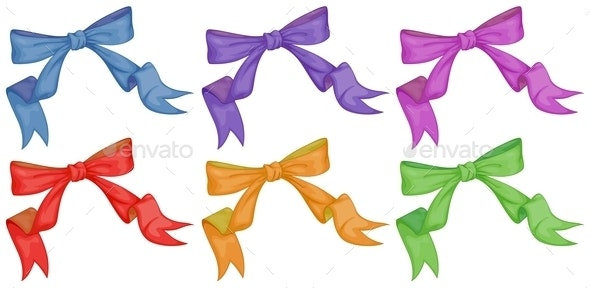 Colourful Bows - Man-made Objects Objects