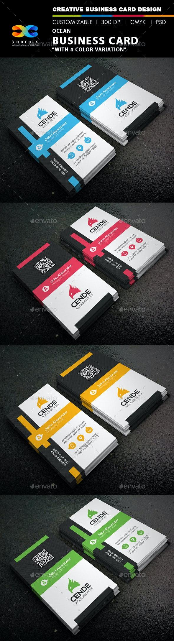 Ocean Business Card - Corporate Business Cards