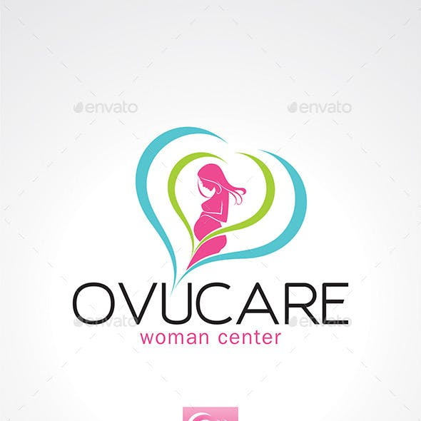 Pregnant Woman Logo Template