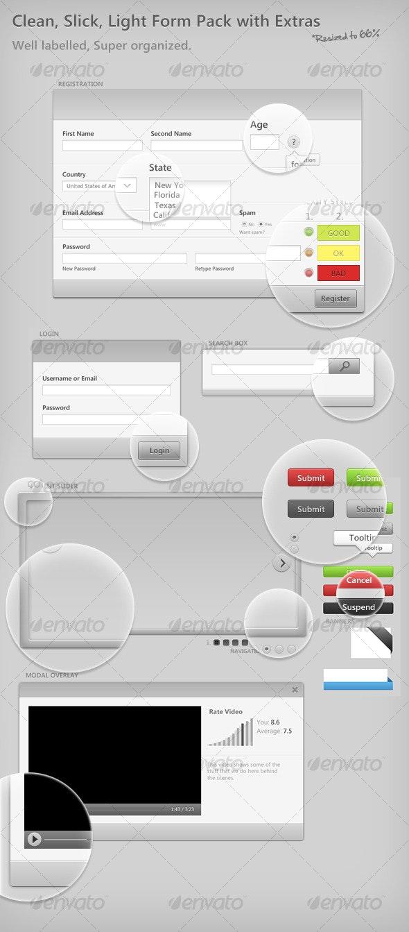 Light Form Elements - Web Elements