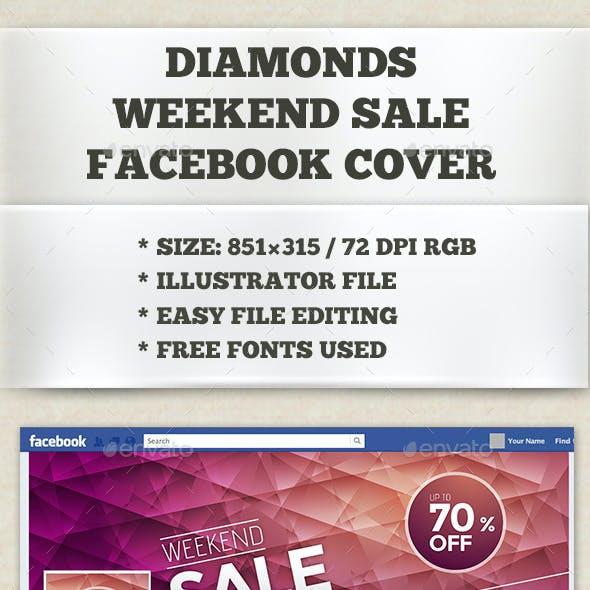 Diamonds Weekend Sale Web Facebook Cover