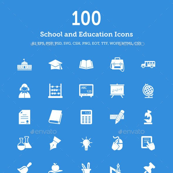 School and Education Vector Icons