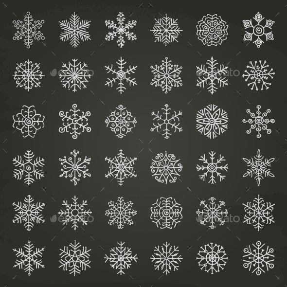Winter Snowflakes - Seasons/Holidays Conceptual