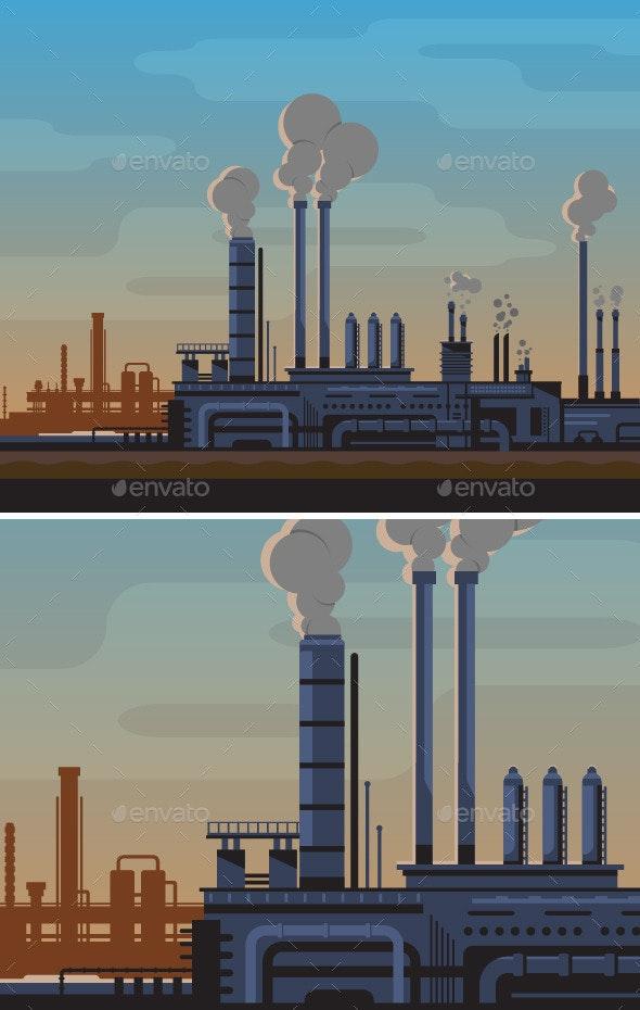 Industrial Landscape - Buildings Objects